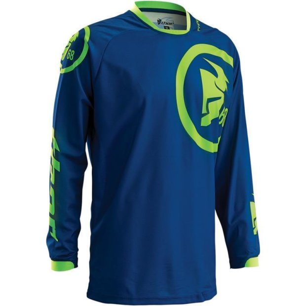 Jersey Thor Phase Gasket S16 navy/lime