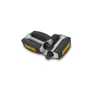 """SET Pedal - links und rechts (abgerundete Ausführung, Stahlachse 9/16"""""""", mit Reflektoren) - z.B. für SR1, SR2, SR2E, Mofa SL1, SR4-1"""