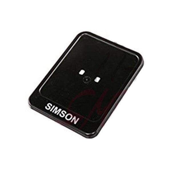 Kennzeichenhalter, schwarz - mit Aufdruck Simson