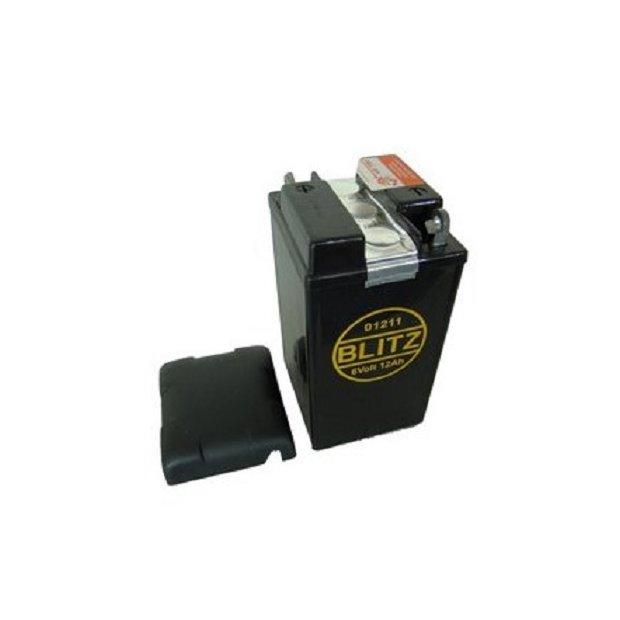 Blitz Oldtimer Batterie 6V 12Ah mit Deckel Oldtimer (Füllmenge 150ml Säure pro Kammer) 01211