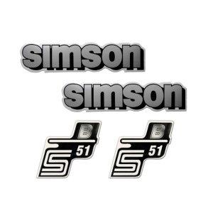 Aufkleberset S51 B,  4-teilig