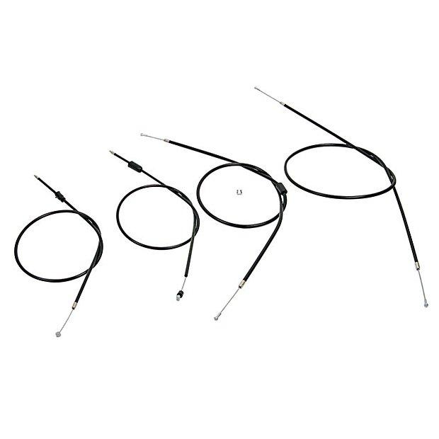 Bowdenzugsatz Enduro komplett schwarz (4-teilig)