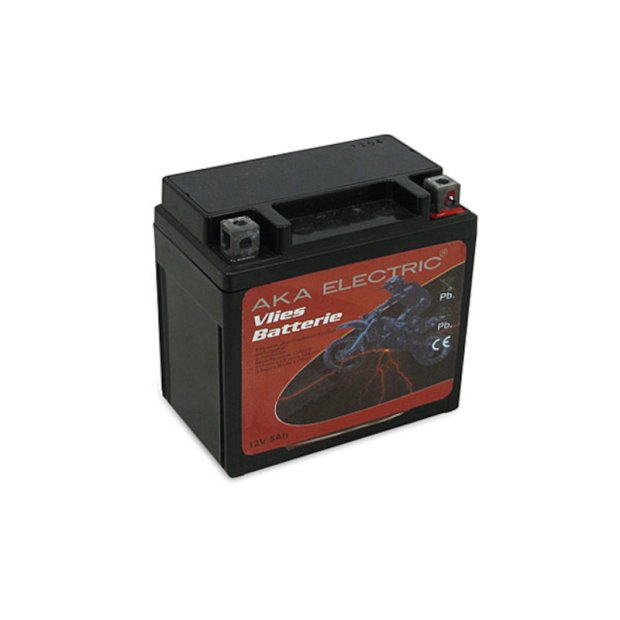 Batterie (Vlies - wartungsfrei)  12V 5,0 Ah  AKA Electric