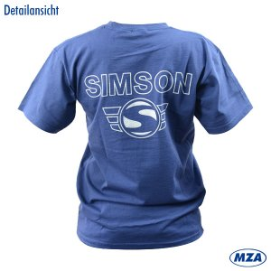 T-Shirt Marineblau - mit Reflexdruck silber SIMSON-Logo