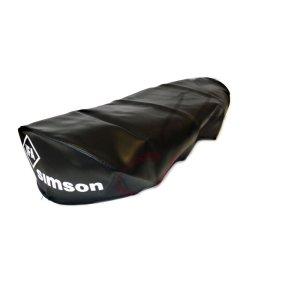 Sitzbezug Simson schwarz, glatt für Schwalbe KR51/1, SR4-2 Star - für kurze Sitzbank