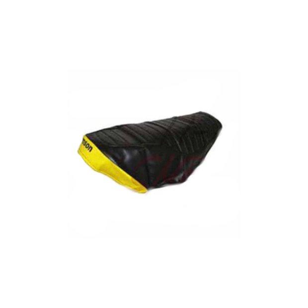 Sitzbezug, SIMSON schwarz/gelb, strukturiert, wasserdicht SR50, SR80
