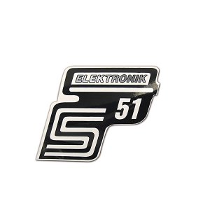 Klebefolie Seitendeckel -Elektronik- silber, S51
