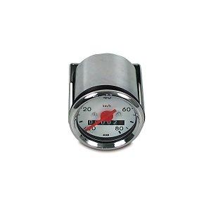 Tachometer mit Beleuchtung - weißes Ziffernblatt - ø48mm - S50 - (80km/h-Ausführung)