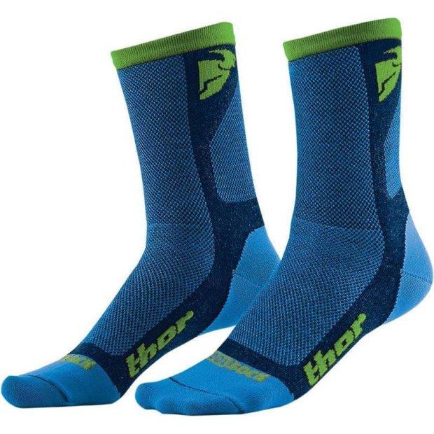 Socken Thor MX Dual Cool blau/grün