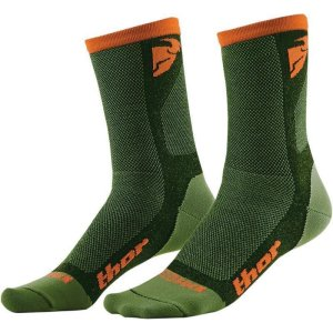 Socken Thor MX Dual Cool grün/orange
