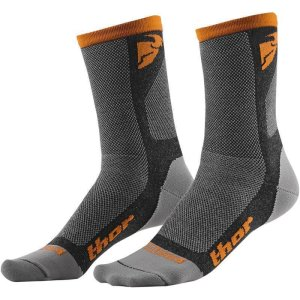 Socken Thor MX Dual Cool grau/orange