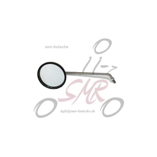 Rückblickspiegel, links - ø 90 mm, Spiegelarm Edelstahl, Gewinde M8