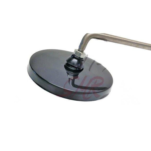 Rückblickspiegel, rechts - ø 90 mm, Spiegelarm Edelstahl, Gewinde M8