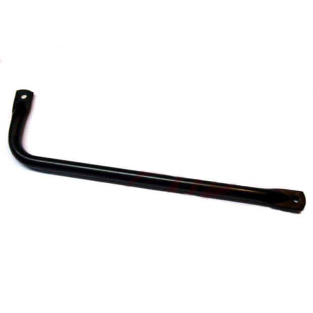 Auspuffstrebe lang - schwarz pulverbeschichtet -  S50, S51, S70