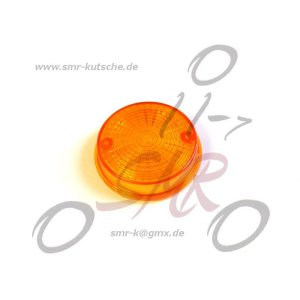 Lichtaustritt hinten, Blinkerkappe Ø80 mm, orange, inkl. Gummidichtring + Schrauben