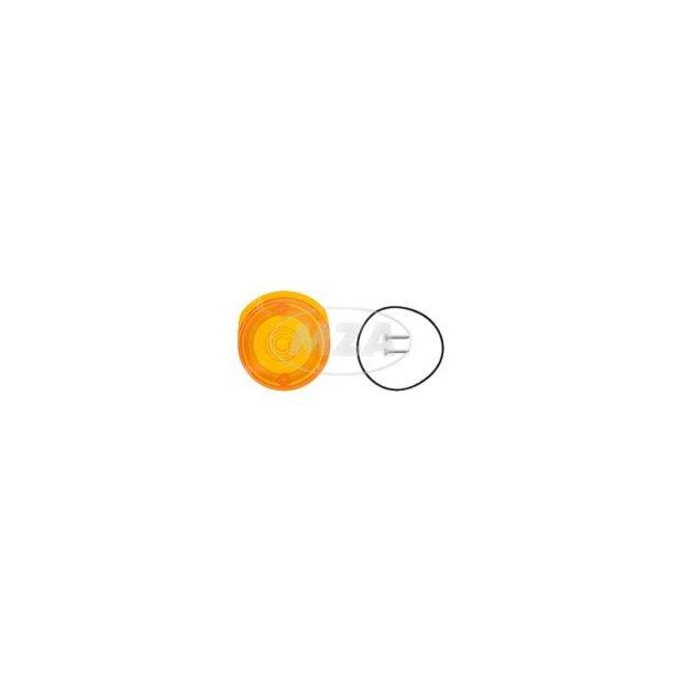 Lichtaustritt vorne, Blinkerkappe Ø80 mm, orange, inkl. Gummidichtring + Schrauben