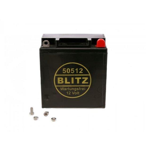 Batterie Oldtimer Blitz 12V 5,5Ah, BLEI-GEL, wartungsfrei, 50512