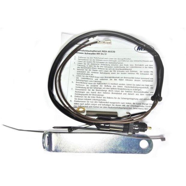 SET Bremslichtschalter mit Befestigungswinkel, schwarz + Kleinteile - für KR51/2