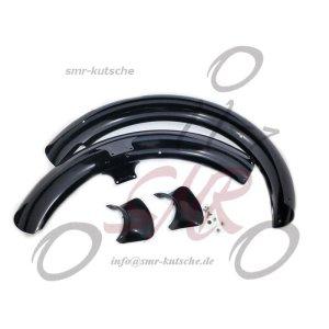 Kotflügel Set - schwarz pulverbeschichtet - S50, S51, S70