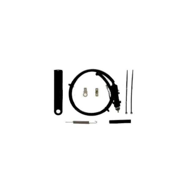 SET Bremslichtschalter mit Befestigungswinkel, schwarz + Kleinteile - für S50, S51, S70