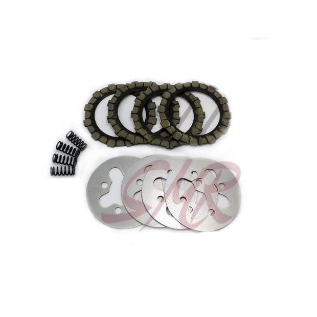 Kupplungsreparatur Set mit 4 Scheiben & Druckfeder, S50, KR51/1, Vogelserie