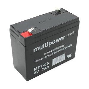 Batterie (Vlies - wartungsfrei) 6V 7 Ah