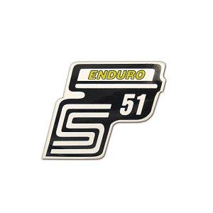 Aufkleber Seitendeckel -Enduro- gelb, S51