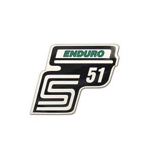 Aufkleber Seitendeckel -Enduro- grün, S51
