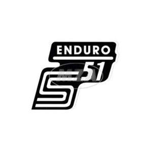 Aufkleber Seitendeckel -Enduro- weiß, S51