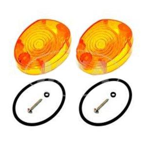 Set Lichtaustrittscheiben 8580.26, orange, inkl. Gummidichtungen und Schrauben