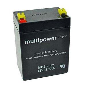 Batterie (wartungsfrei) 12V 2,9 Ah + Leergehäuse