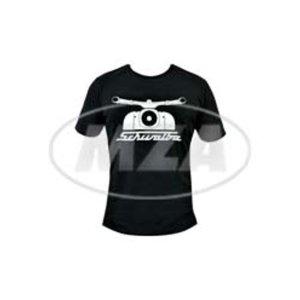 T-Shirt schwarz 55 Jahre Schwalbe - 100% Baumwolle