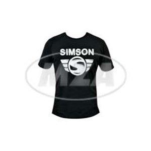 T-Shirt schwarz Simson Schriftzug und Emblem (#Simsonliebe) - 100% Baumwolle