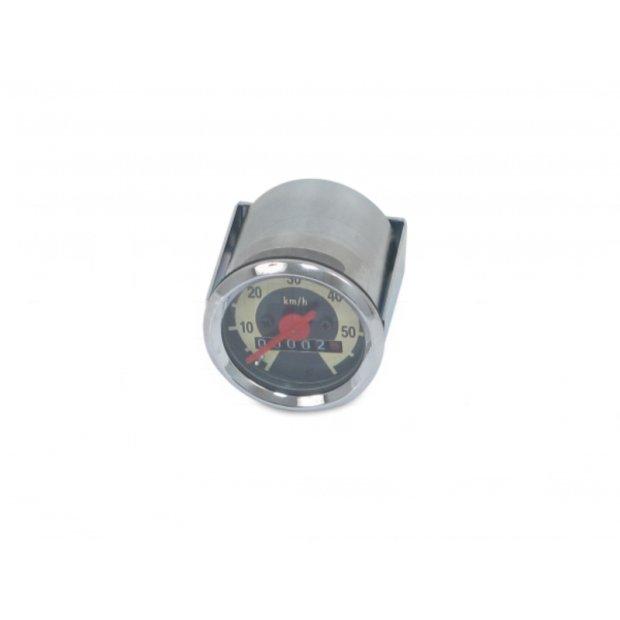 Tachometer f. SR2E, SR4-1, KR50, Ø48mm, 60km/h-Version - Skale schwarz/ hellelfenbein