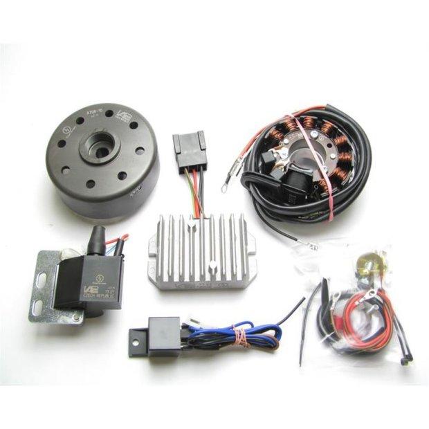 Lichtmagnetzündanlage 12V 100W mit integrierter vollelektronischer Zündung für ES125, 150, ETS125, 150, TS125, 150