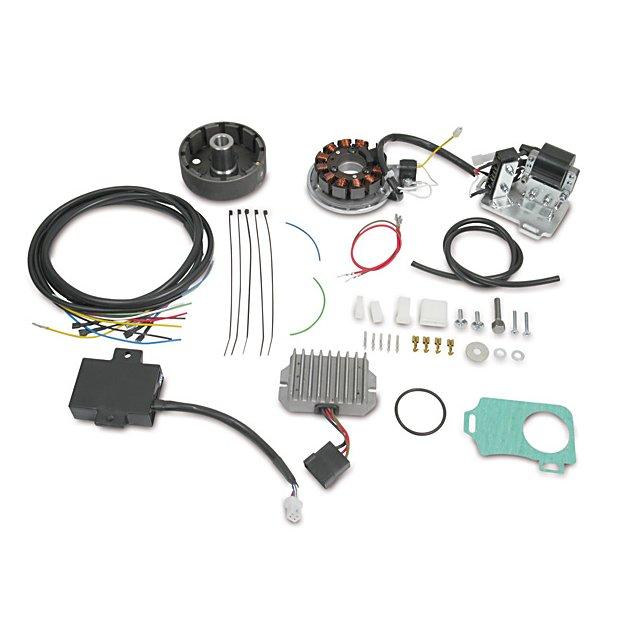 Lichtmaschine mit integrierter, kontaktloser, vollelektronischer Vape/Powderdynamo Zündung 12V 150W passend für AWO425 Sport und Touren