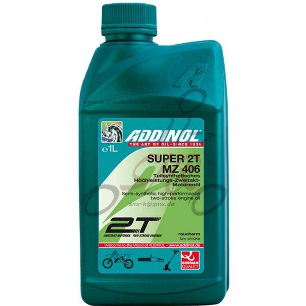2-Takt Mischöl Addinol MZ406 Super, raucharm, teilsynthetisch, 1l