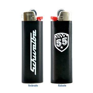 BIC-Feuerzeug, schwarz - mit Schwalbe-Logo + 55