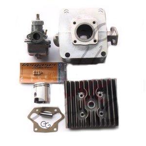 Zylinder Zylinderkopf Vergaser 19mmTuning Set 60ccm f. Simson S51, SR50, KR51/2