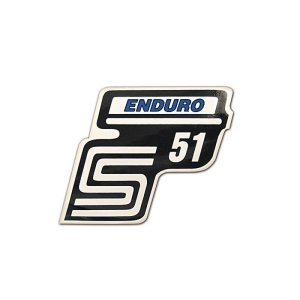 Aufkleber Seitendeckel -Enduro- blau, S51
