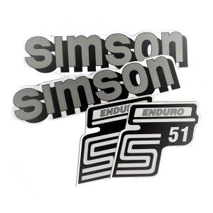 Aufkleberset S51 Enduro,  4-teilig