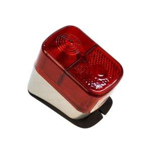 Rücklicht, roter Lichtaustritt - Gehäuse silber - KR51/1, SR4-1, SR4-2, SR4-3, SR4-4