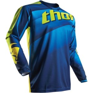 Jersey Thor Pulse Velow S17 navy/lime Gr. M