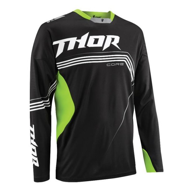 Jersey Thor Core S15 Bend schwarz/fluoreszierend grün Gr. S