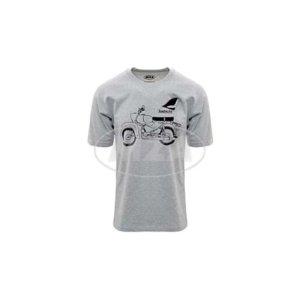 T-Shirt hellgrau meliert, Motiv: Habicht