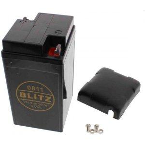 Batterie Oldtimer Blitz 6V 12 Ah mit Deckel BLEI-GEL, wartungsfrei, geschlossen 0811