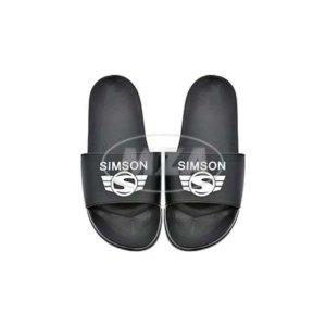Badeschuhe, schwarz, Motiv: SIMSON