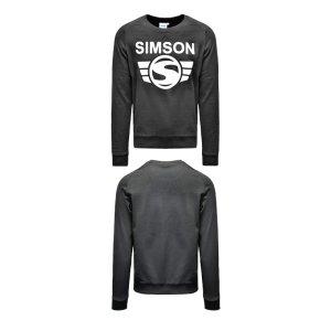 Herren-Sweatshirt, schwarz, Motiv: SIMSON - 100% Baumwolle